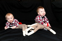 Oliver (left) and Alastair (right) 8 Months