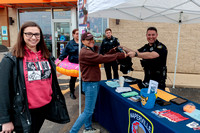 Athlete Melanie Mayer with the Naperville Police for the Cop On